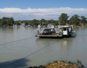 Crossing the Murray at Mannum on the ferry