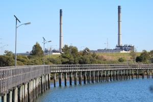 AH Power station near the mangrove area