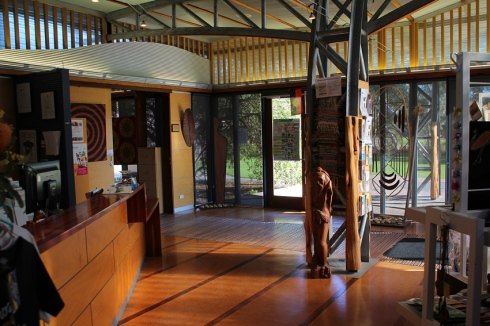 The lobby of the Living Kaurna Cultural Centre