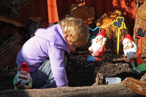 Quinnus muchsuddliusforaging in the fairy garden